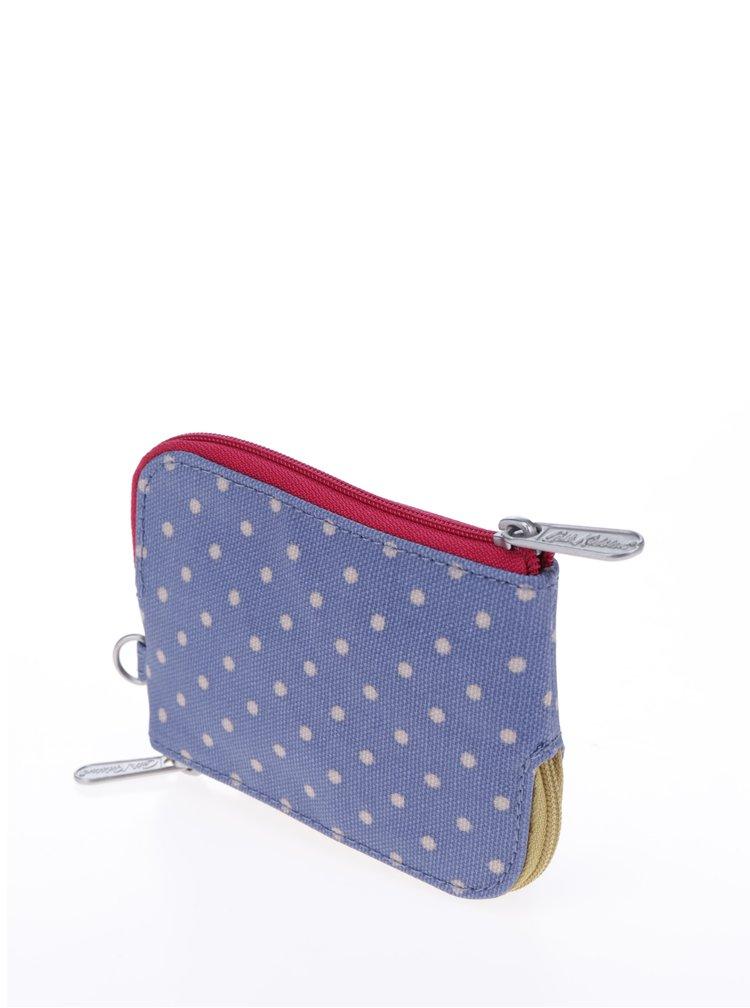 Modrá dámská puntíkovaná peněženka na mince Cath Kidston