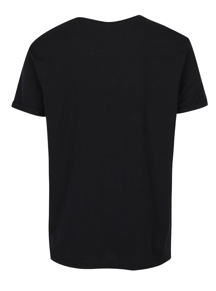 Černé pánské tričko s potiskem Broadway Nazario