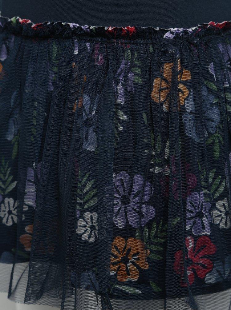 Tmavě modrá holčičí květovaná sukně BÓBOLI