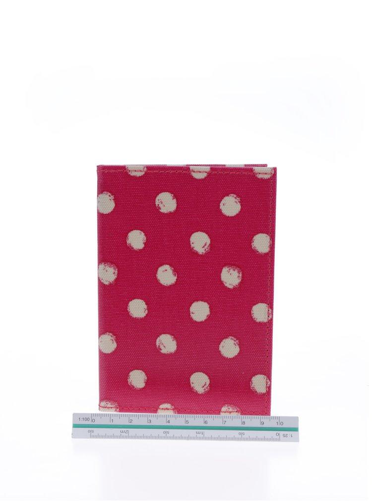 Tmavě růžové puntíkované pouzdro na doklady Cath Kidston