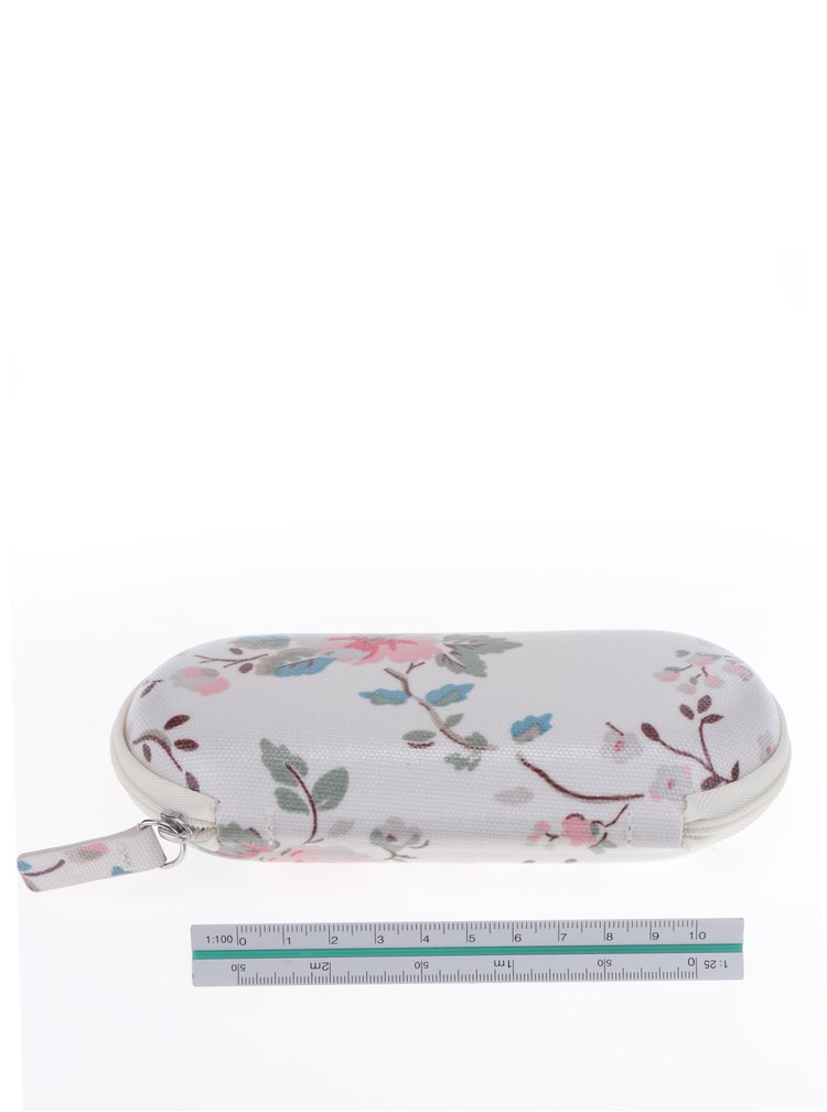 Béžovo-šedé květované pouzdro na brýle Cath Kidston