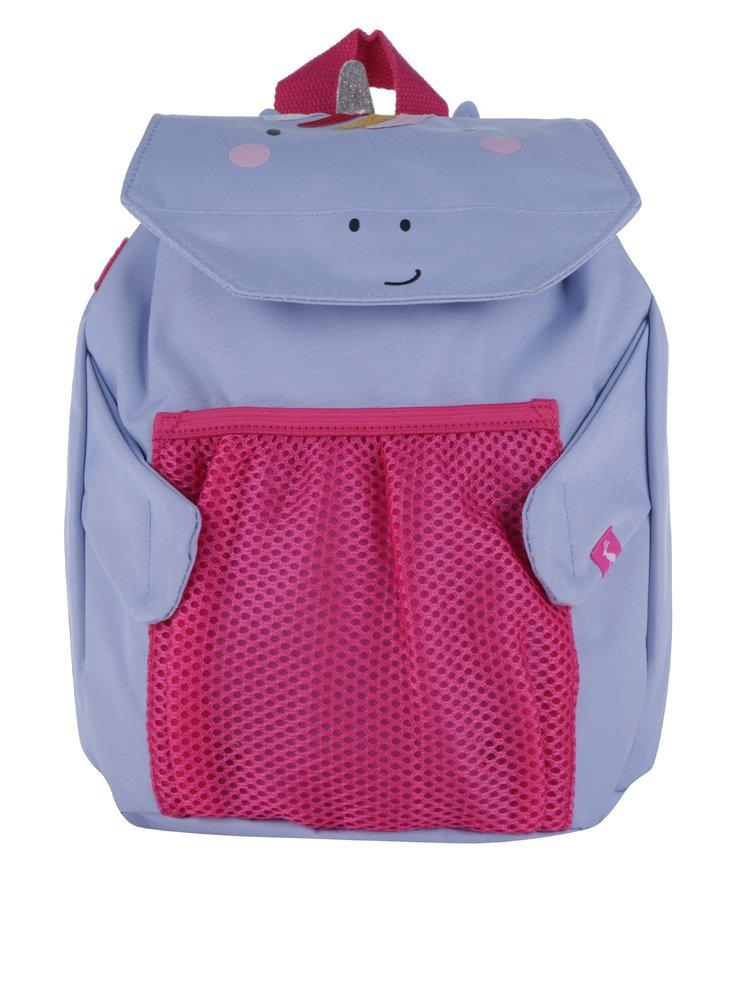 Svetlomodrý dievčenský batoh v tvare jednorožca Tom Joule