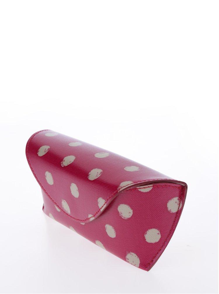 Tmavě růžové puntíkované pouzdro na brýle Cath Kidston