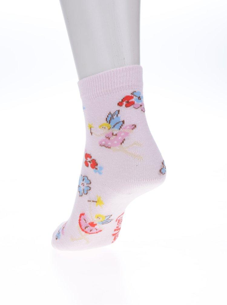 Světle růžové holčičí vzorované ponožky Cath Kidston
