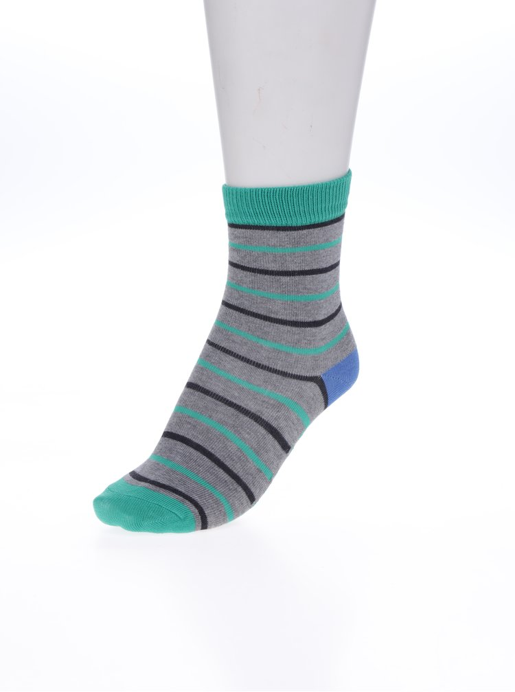 Sada třech párů  klučičích vzorovaných ponožek v šedé a modré barvě Tom Joule Wolf