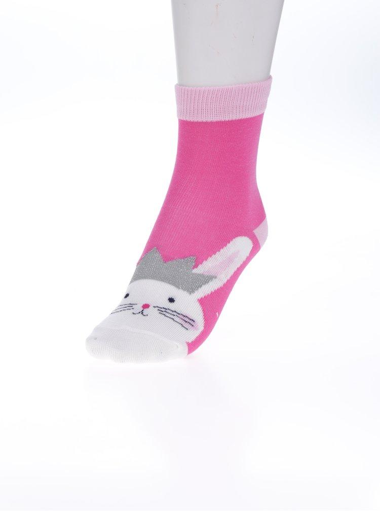 Sada třech párů holčičích vzorovaných ponožek v růžové barvě Tom Joule Multi