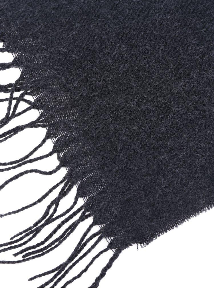Esarfa tricotata gri inchis VERO MODA Solid