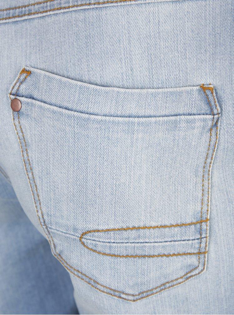 Modré džínové kraťasy s potrhaným efektem Ulla Popken