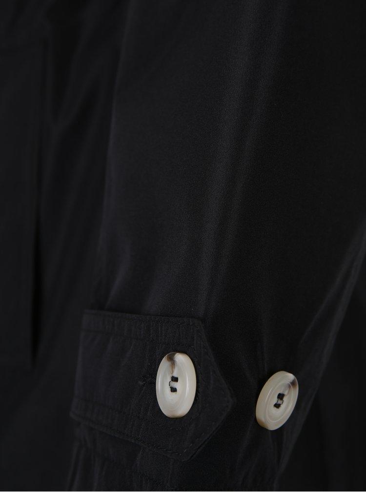 Trenci negru cu aspect lucios Ulla Popken