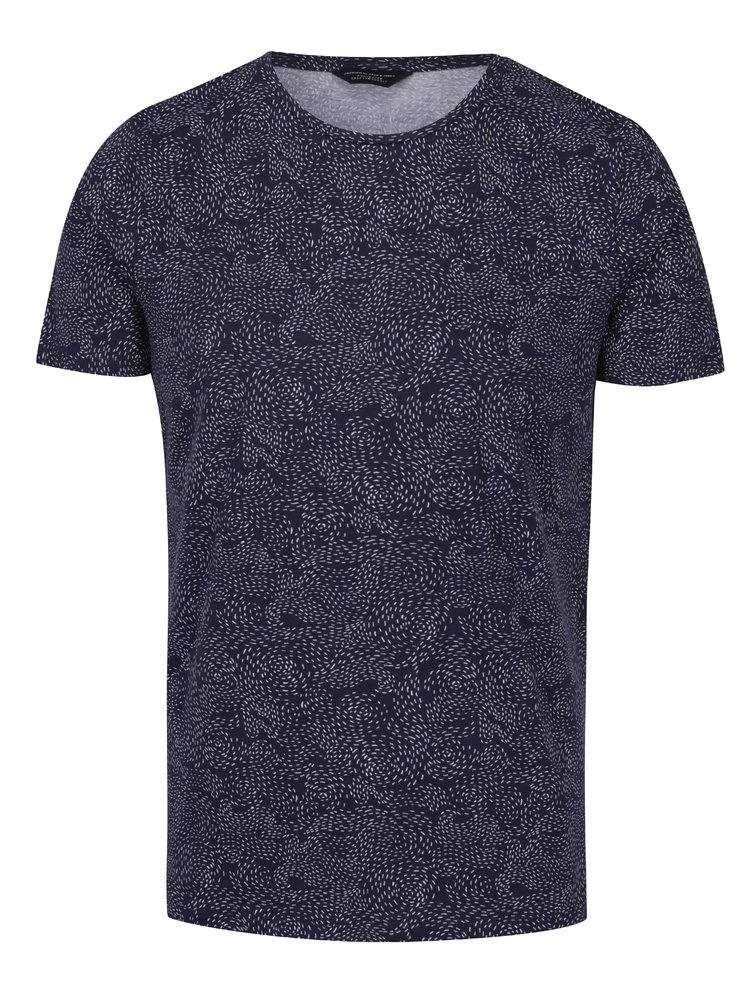 Tricou bleumarin din bumbac - Premium Linear