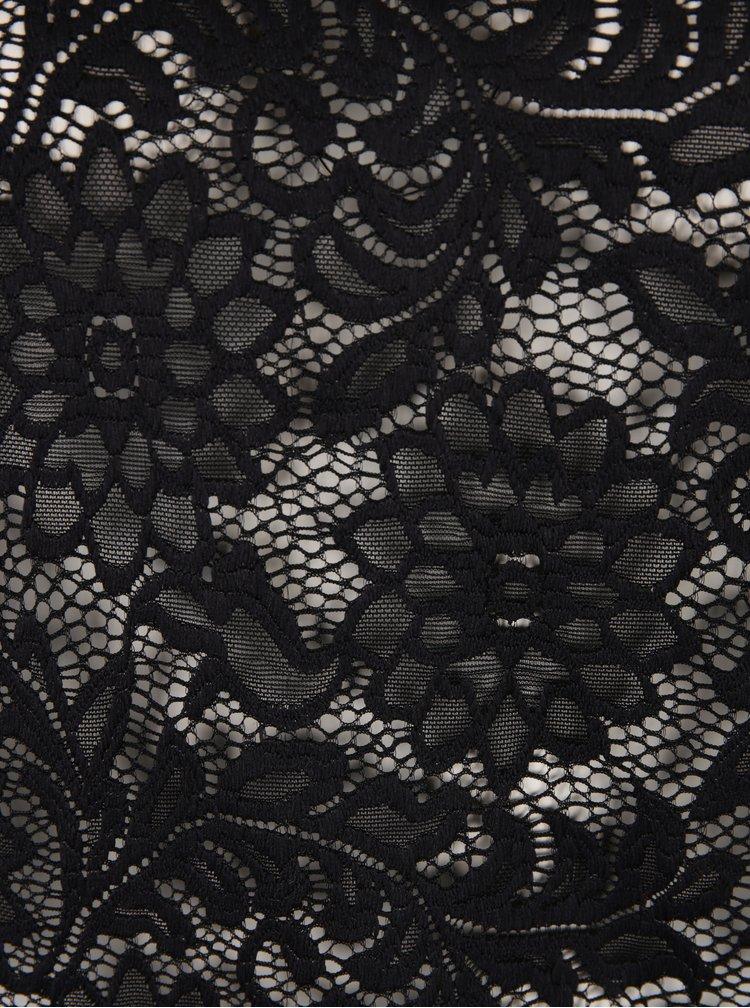 Černá krajková průsvitná halenka ONLY Laura