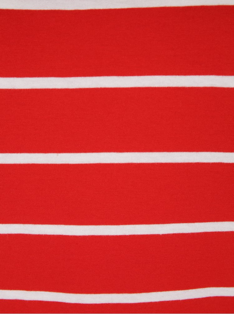 Tricou rosu & alb cu dungi - ONLY Great