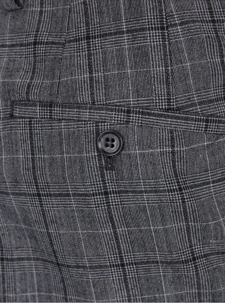 Pantaloni gri de costum din lână - Jack & Jones Premium Ranton