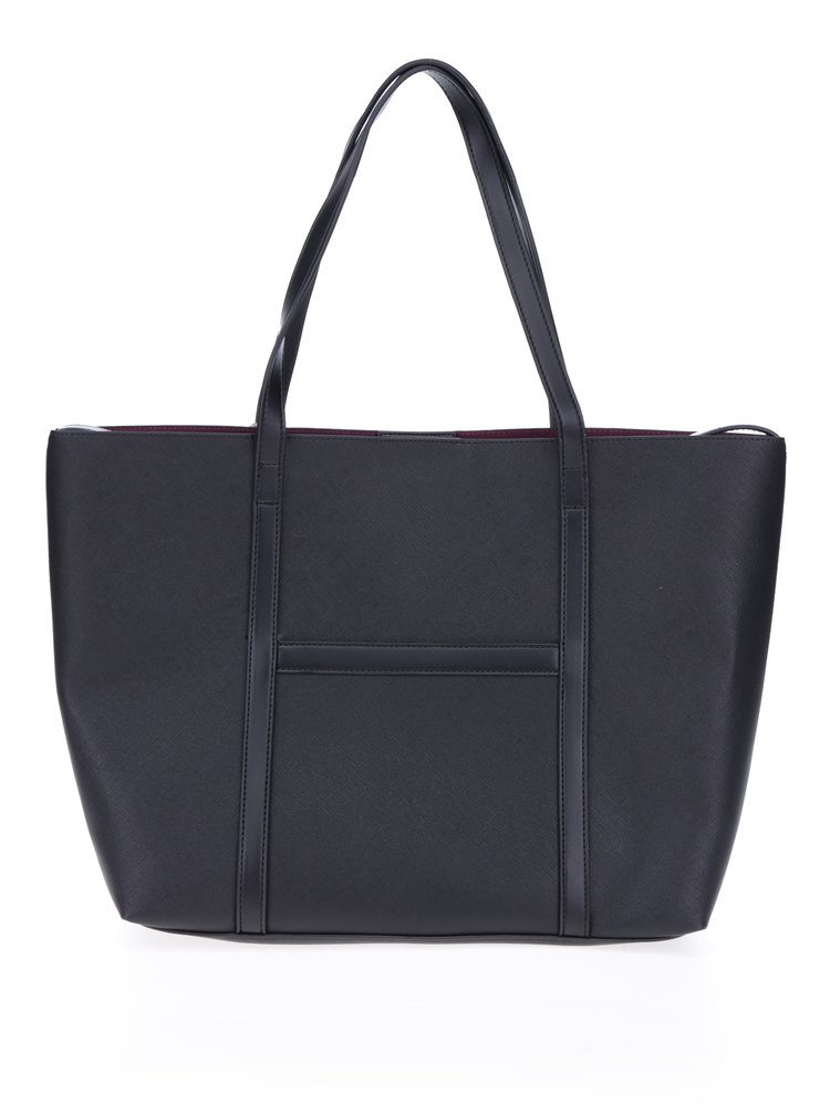 Černý shopper s pouzdrem 2v1 French Connection Saffiano Julia