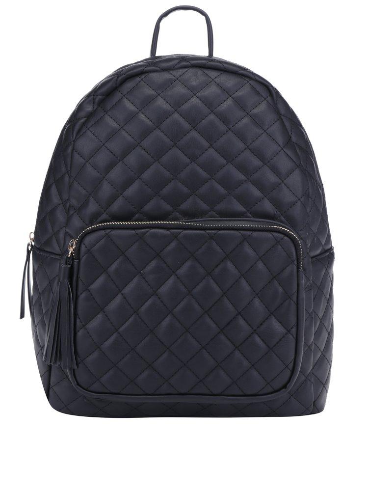 Černý prošívaný batoh Pieces Nanci