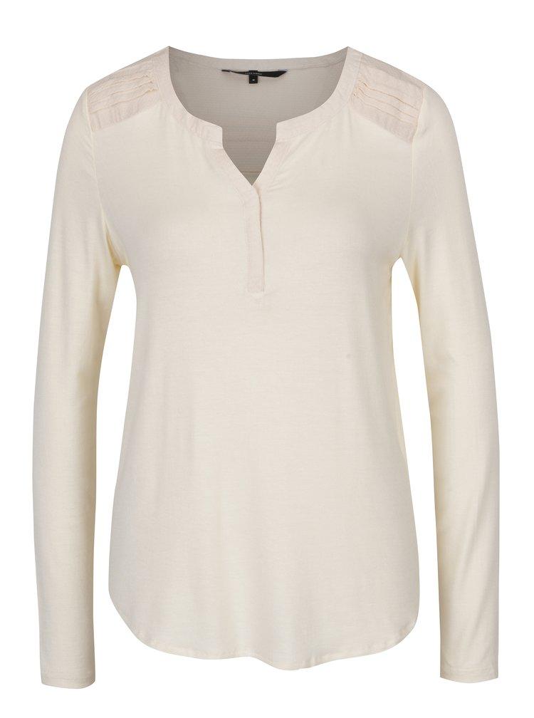 Krémové tričko s dlouhým rukávem VERO MODA Ulla