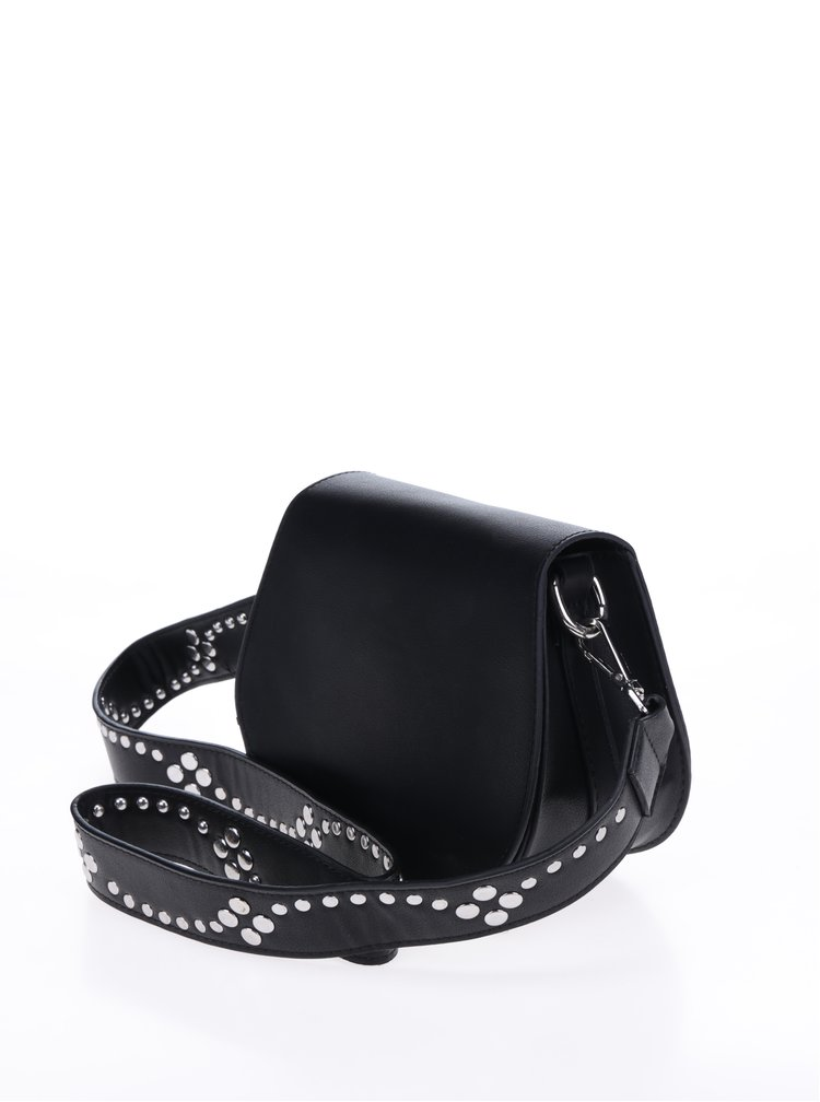 Černá crossbody kabelka se cvočky Pieces Nicolina