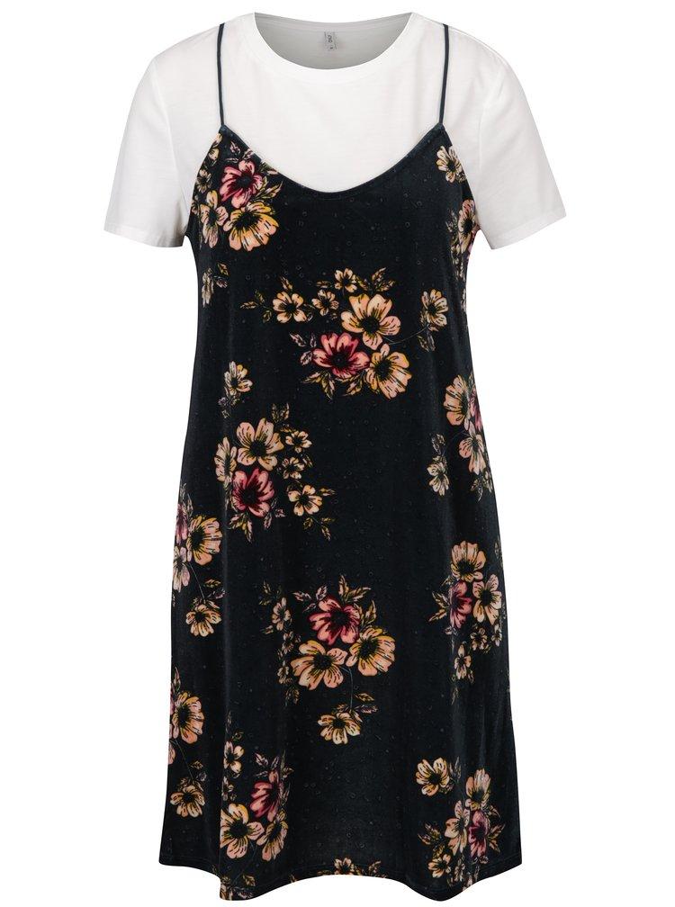 Rochie cu imprimeu floral si aspect 2 in 1 - ONLY Tara