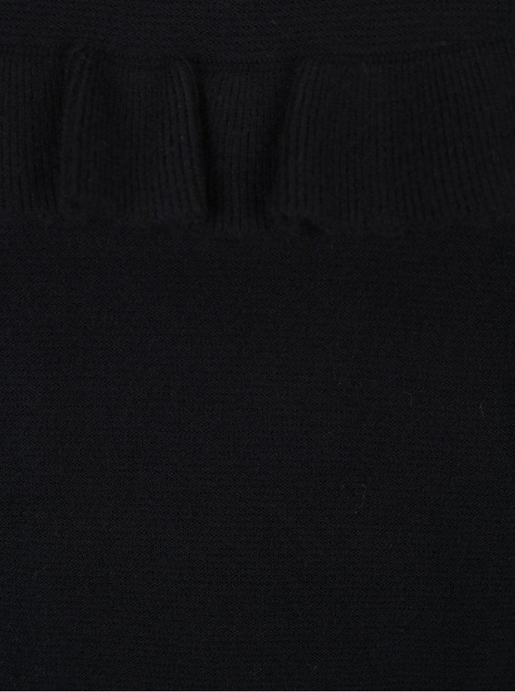 Černý svetr s volánem VERO MODA Galtine