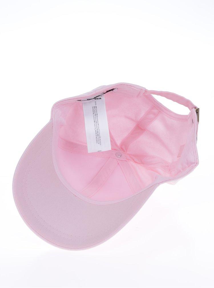 Růžová dámská kšiltovka s výšivkou TALLY WEiJL