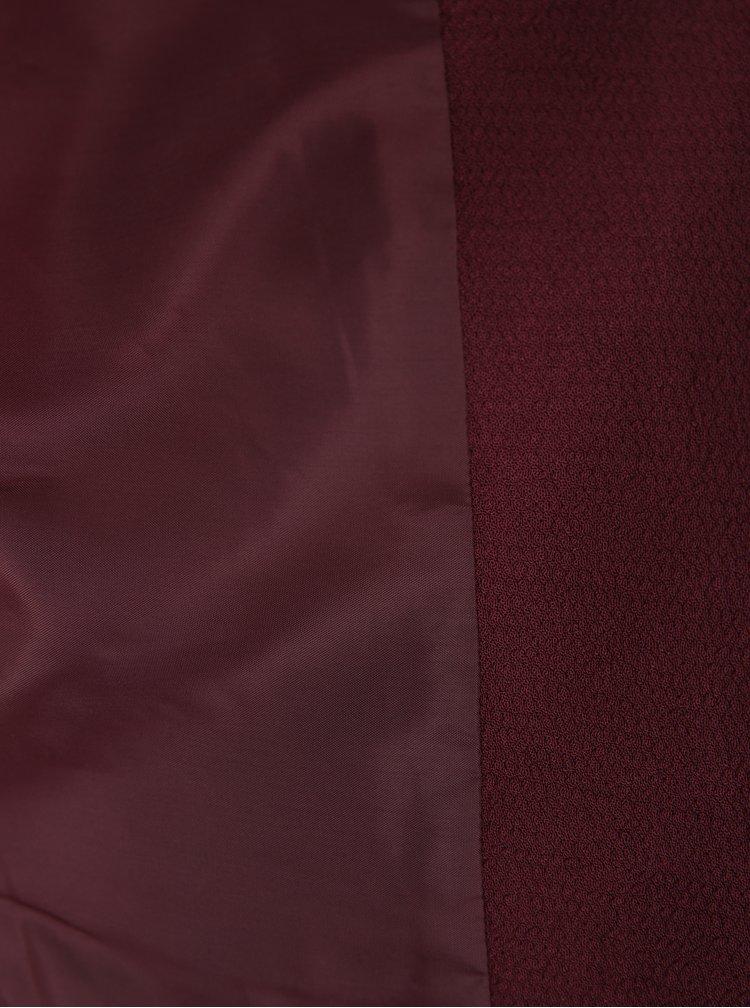 Sacou roșu bordo cu fermoare argintii - ONLY Madeline Maddy
