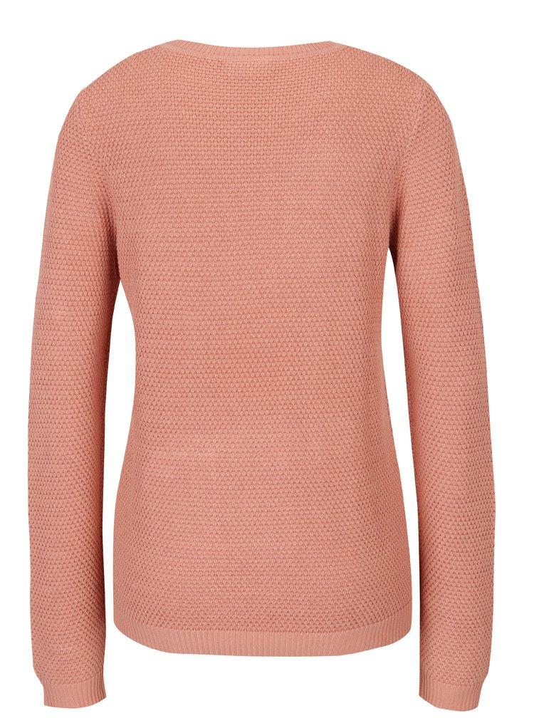 Pulover tricotat roz deschis - VILA Chassa