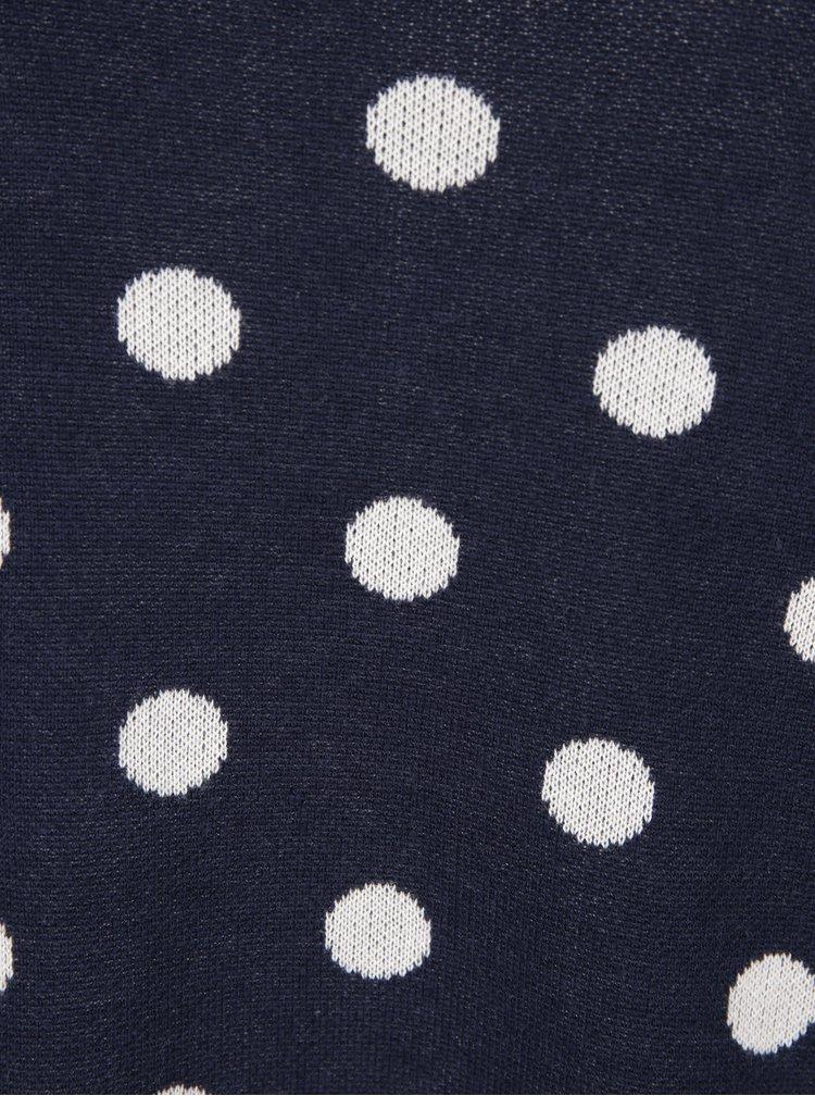 Tmavě modrý puntíkovaný svetr VERO MODA Dotty