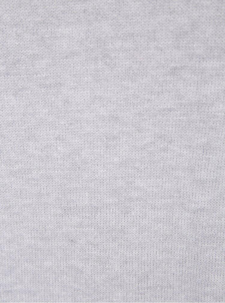 Šedé žíhané svetrové šaty VILA Ril