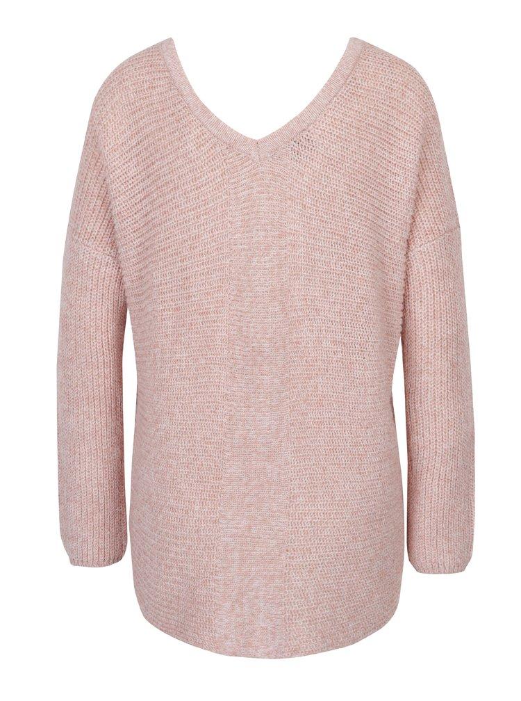 Pulover roz deschis cu șiret - ONLY Peyton