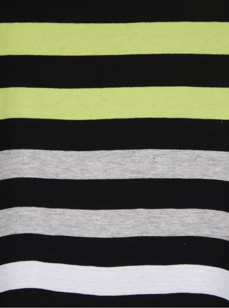 Černo-zelené pruhované tričko Ulla Popken
