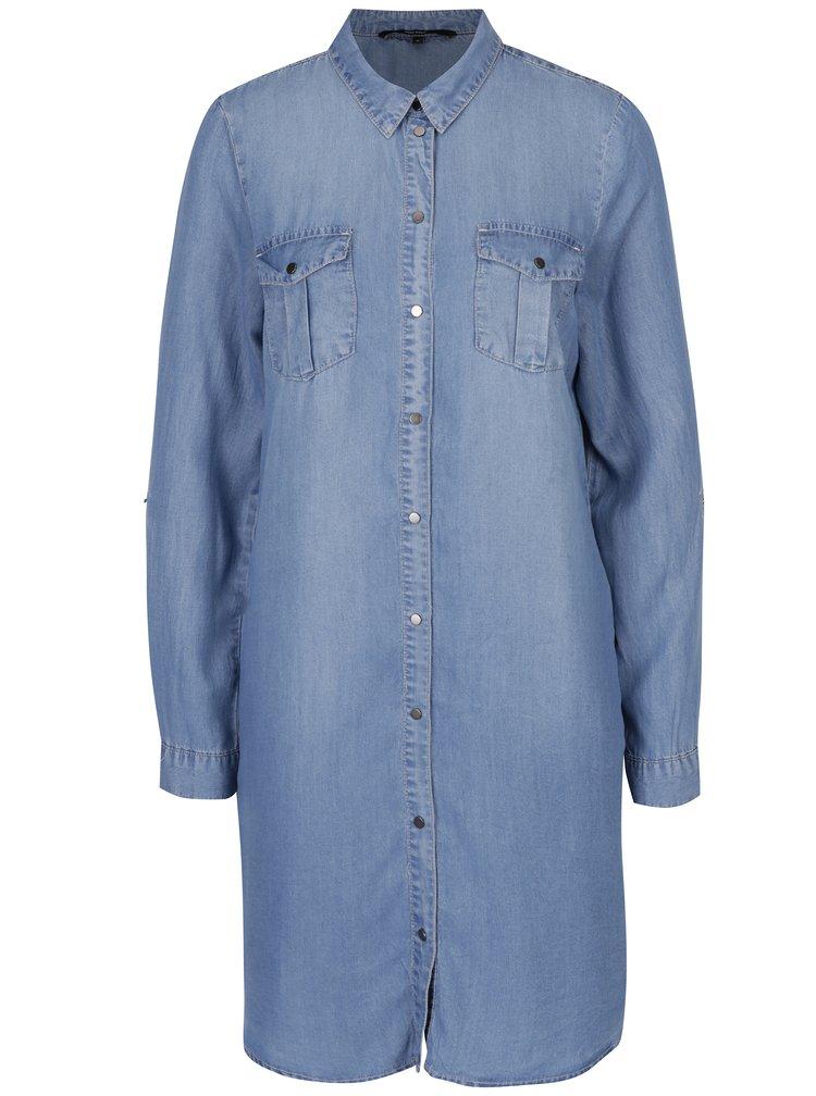 Rochie camasa bleu din denim - VERO MODA Silla