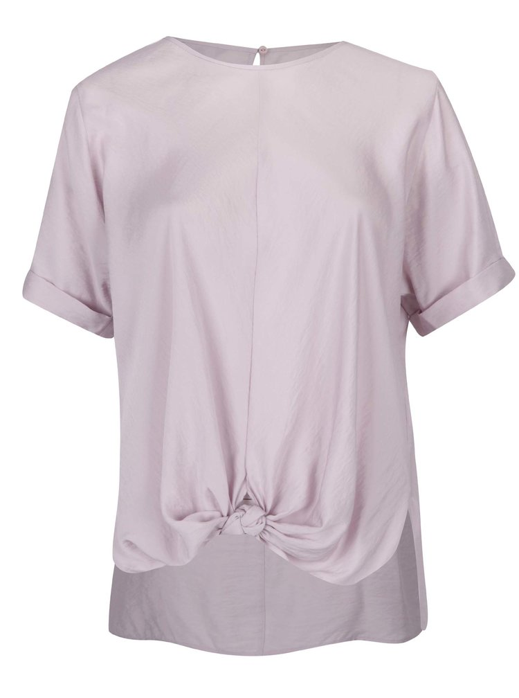 Bluza violet deschis cu nod decorativ - Ulla Popken