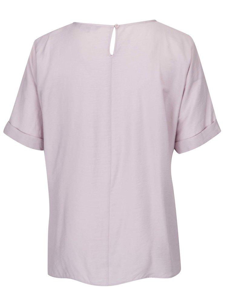 Bluză violet deschis cu nod decorativ - Ulla Popken