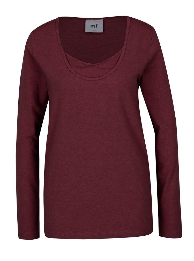 Súprava dvoch dojčiacich tričiek v červenej a krémovej farbe Mama.licious Lea