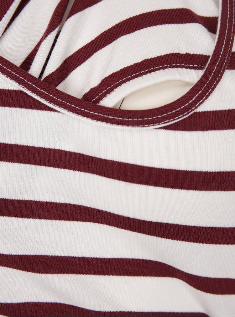 Sada dvou kojicích triček v červené a krémové barvě Mama.licious Lea