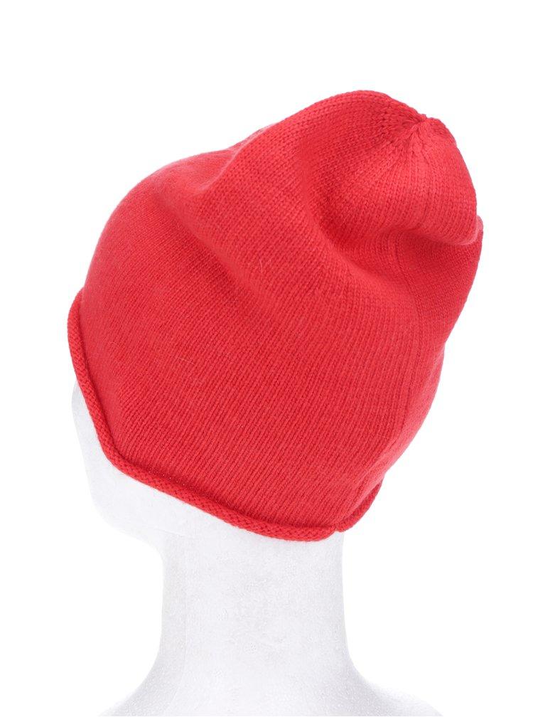 Căciulă roșie tricotată fin - ONLY Nautical