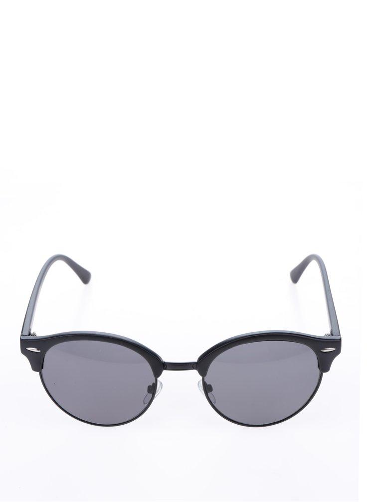 Černé kulaté sluneční unisex brýle ONLY & SONS Sunglasses