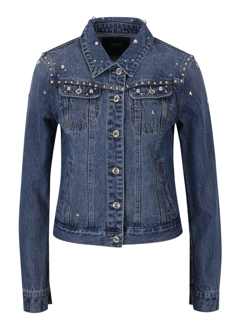Jacheta albastra din denim cu tinte - ONLY Cam