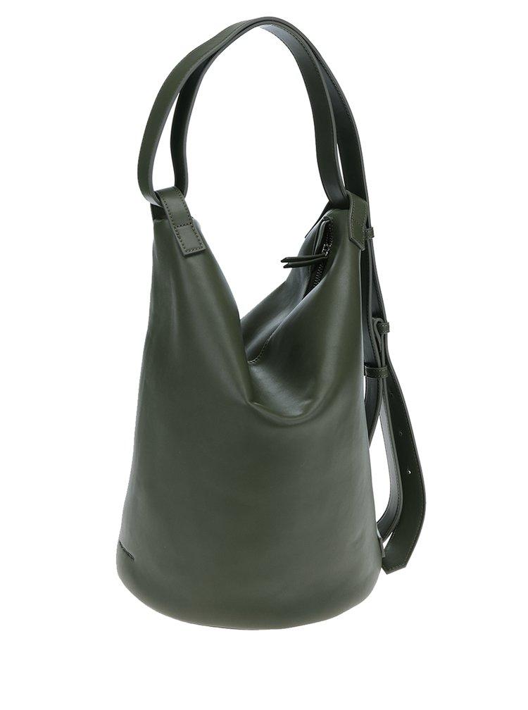 Tmavě zelený batoh/kabelka French Connection Rita