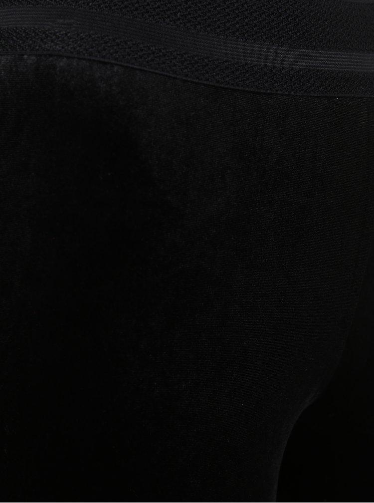 Černé sametové legíny ONLY Lets Talk Velvet