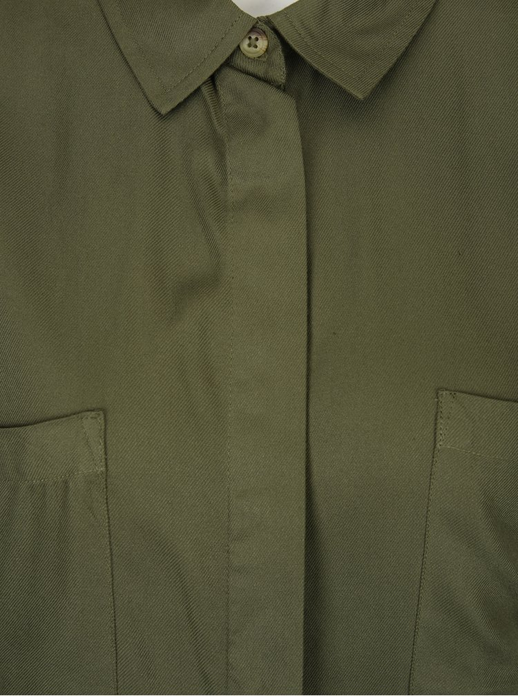 Khaki krátký overal s kapsami Dorothy Perkins