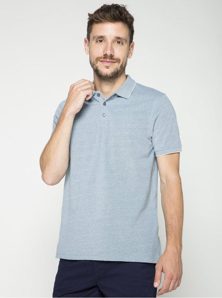 Světle zelené žíhané polo triko Burton Menswear London
