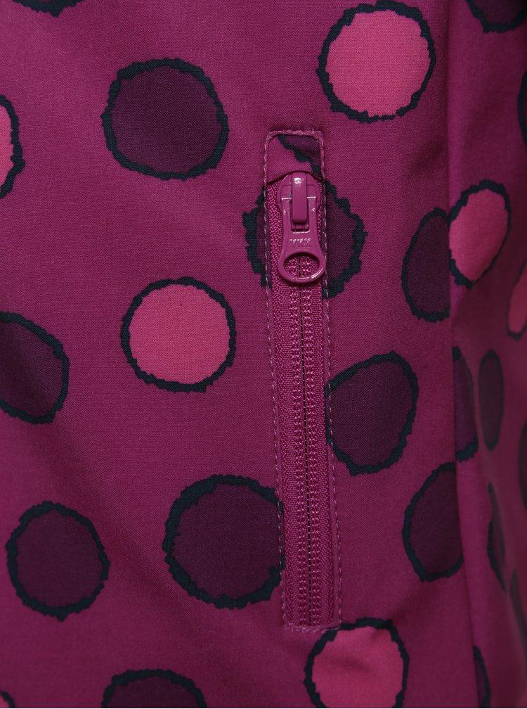 Fialová holčičí softshellová bunda s puntíky name it Alfa