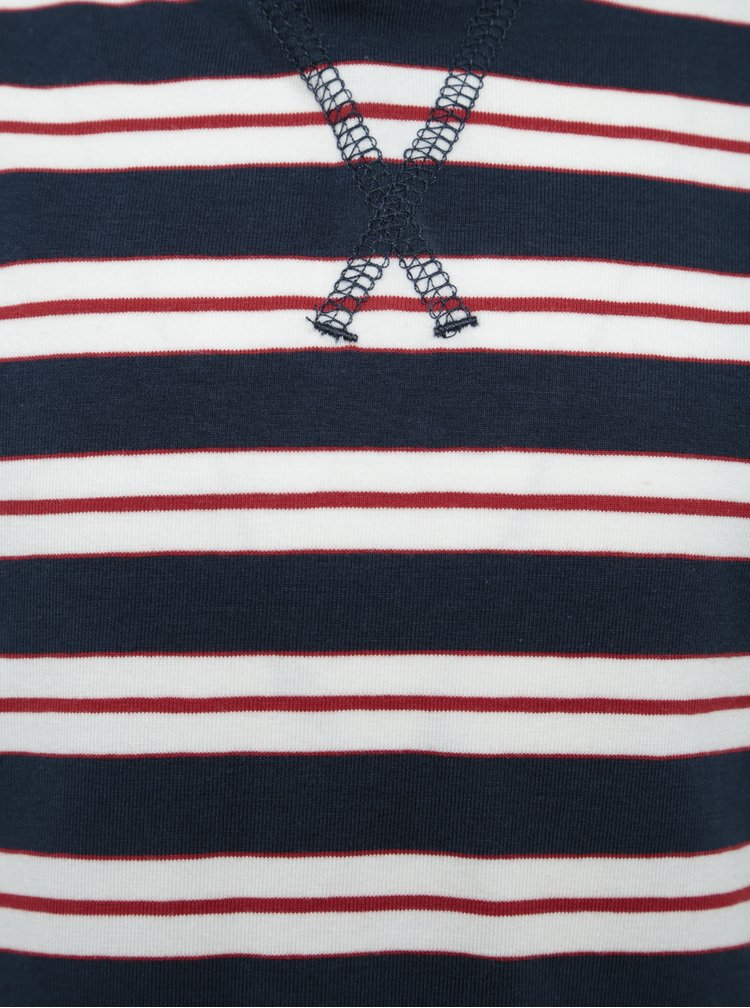 Krémovo-modré klučičí triko s kapucí name it Kunnar