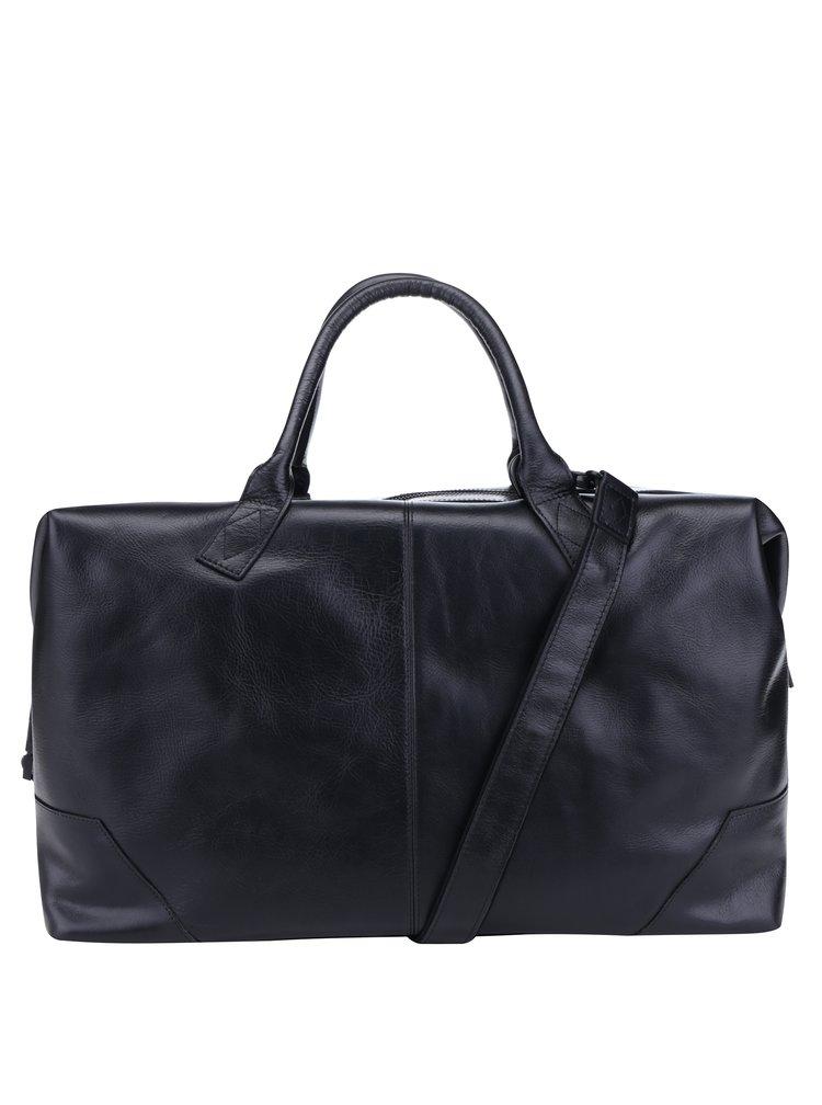 Černá pánská kožená cestovní taška Royal RepubliQ