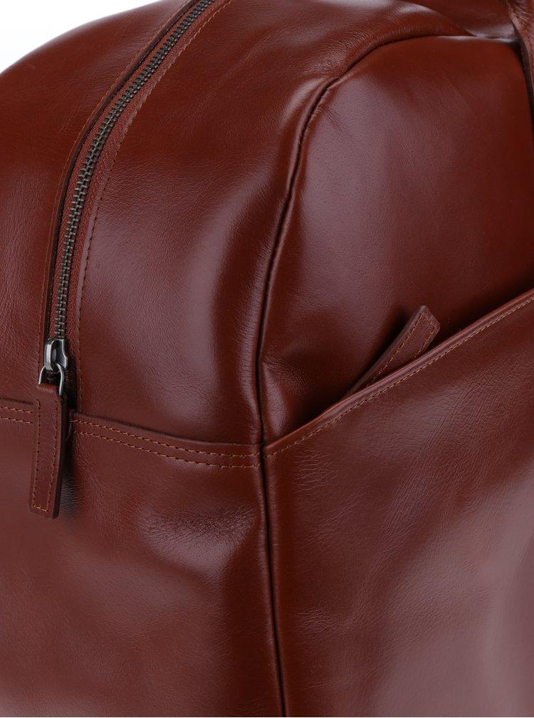 Geanta de calatorie maro din piele naturala pentru barbati -  Royal RepubliQ