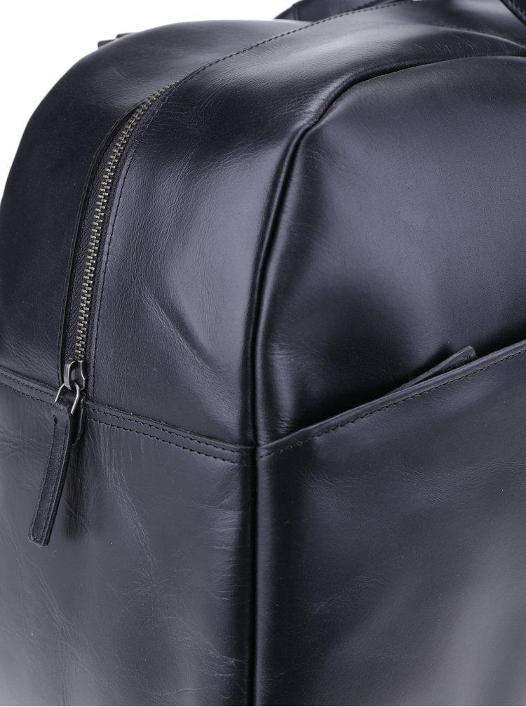 Geanta neagra de calatorie din piele naturala pentru barbati - Royal RepubliQ