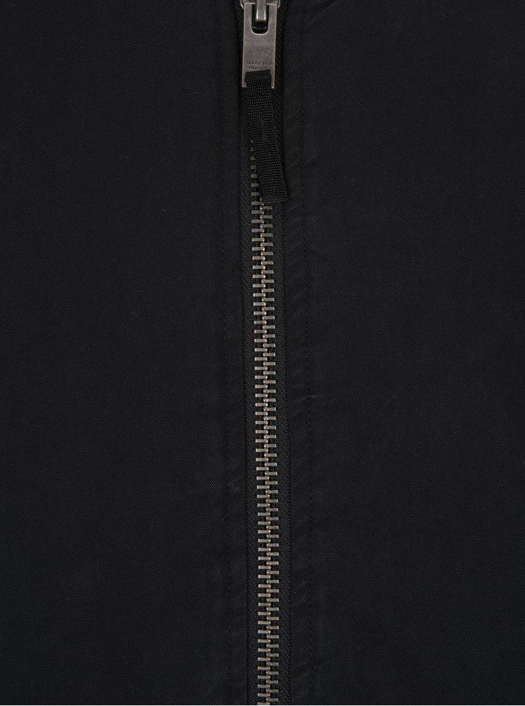 Černá bunda Selected Homme Bomber