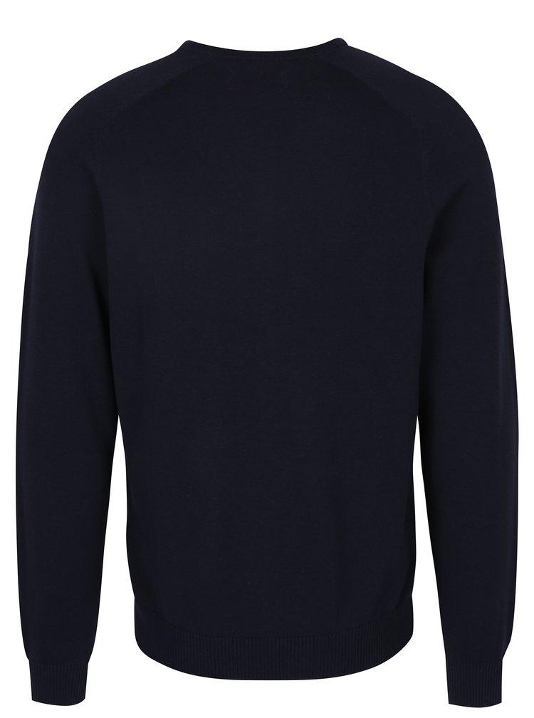 Tmavě modrý svetr s véčkovým výstřihem Original Penguin Chester