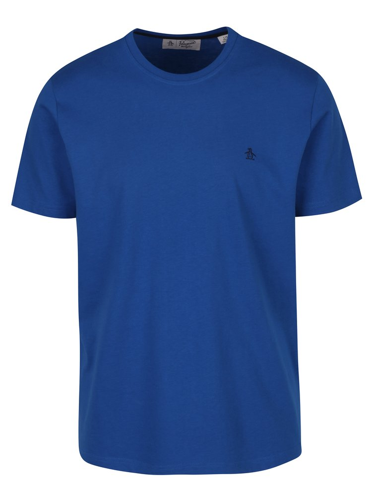 Modré tričko s krátkým rukávem Original Penguin Pin Point Embroidery